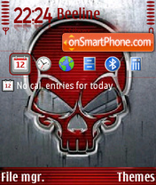 Red Skull 01 theme screenshot