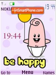 Be happy flash anim.clock es el tema de pantalla