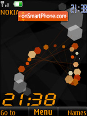 Clock flash animated theme screenshot
