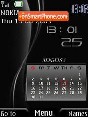 Calendar Black-red theme screenshot