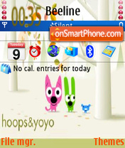 Скриншот темы Hoops and Yoyo