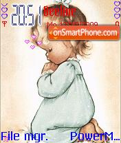 Baby theme screenshot