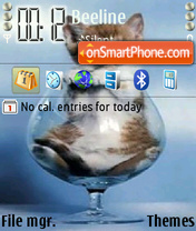 Cute Cat 04 theme screenshot