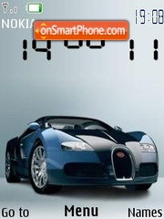 Bugatti veyron theme screenshot