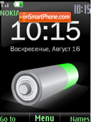 Скриншот темы SWF battery $ rus date clock