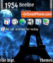 Скриншот темы Eiffel Tower 06