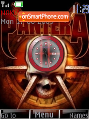 Pantera Clock theme screenshot