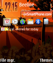 Tropic 01 theme screenshot