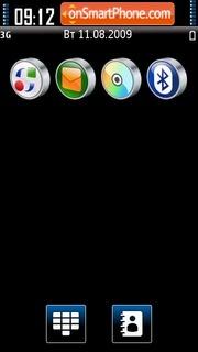 Black & Blue 01 tema screenshot