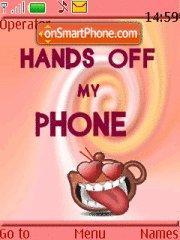 Hands Off My Phone 02 theme screenshot