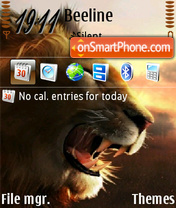 Lion 05 theme screenshot