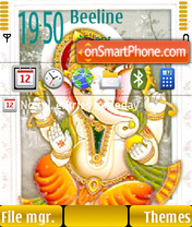 Divine Ganesh theme screenshot