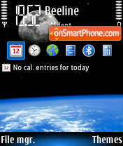 Earth And Moon tema screenshot