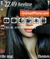 Скриншот темы Angelina Doll