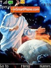 Jesus Watching Us theme screenshot