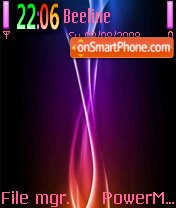 Abstract Rays N72 theme screenshot