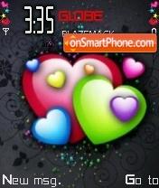 Скриншот темы Colorful Hearts 01