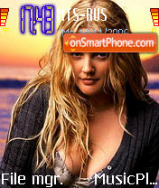 Drew Barrymore 5 theme screenshot