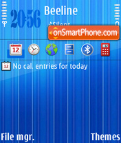 Bright Blue theme screenshot