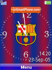 Barcelona SWF Clock theme screenshot