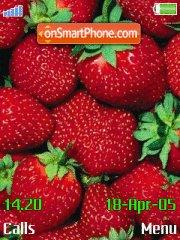 Strawberries tema screenshot