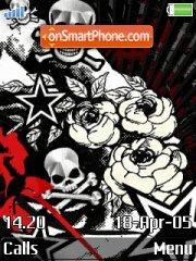 Skulls and Roses theme screenshot