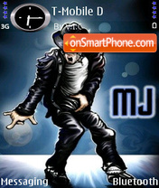 Michael Jackson V3 theme screenshot