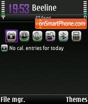 Lavender theme screenshot