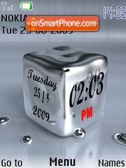 Mercury Clock theme screenshot