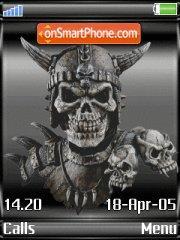 Skull theme screenshot