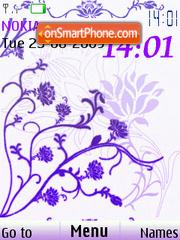 Abstract flowers anim clock theme screenshot
