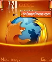 Firefox Orange V2 theme screenshot