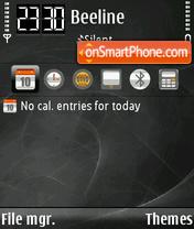 Nebular Grey FP2 yI theme screenshot