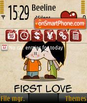 First Love theme screenshot