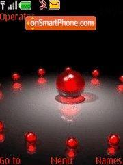 Скриншот темы Red balls
