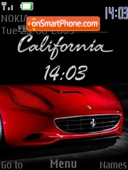 Ferrari California SWF theme screenshot