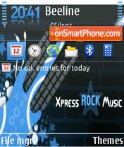 Xpress Rock Musc tema screenshot