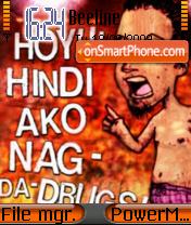 No To Drugs es el tema de pantalla