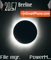 Solar Eclipse tema screenshot