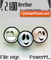 Smile Trio es el tema de pantalla