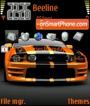 Orange Mustang theme screenshot