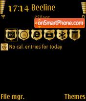 Capture d'écran Black gold v.2 thème