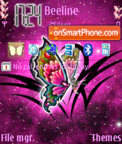 Animated Butterfly 04 theme screenshot