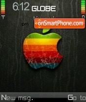 Apple Stained es el tema de pantalla