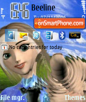 Скриншот темы Drawing Girl