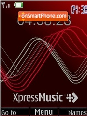 Swf clock XpressMusic red theme screenshot