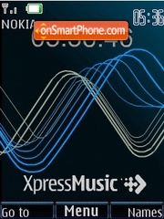 Swf-clock XpressMusic blue theme screenshot