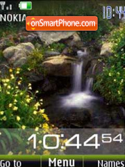 Waterfall clock slide theme screenshot