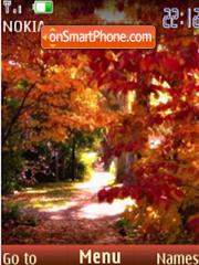 Скриншот темы Colors of the autumn slide