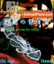 Full Metal Alchemist theme screenshot